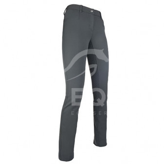 Pantalony HKM Zoe full grip 34 tm.šedé A-45% (3090-1699)