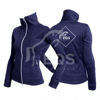 *EQS* Mikina Euroriding Jersey Lady NEW Logo Equiservis S modrá