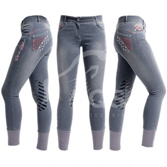 Rajtky Cassini Fashion Jeans Grip koleno 36 šedé