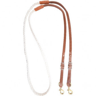*W* Otěže Martin Saddlery Hand Braided Nylon Roping reins 5/8'